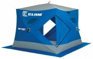 "Clam 9130 Big Foot XL 4000 5   6 Person 96"" x 96"" Ice Fishing Hub Shelter  Sports & Outdoors"