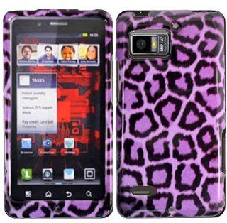 Purple Leopard Hard Case Cover for Motorola Droid Bionic XT875 Cell Phones & Accessories