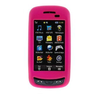 Hot Pink Rubberized Snap On Crystal Hard Case for AT&T Samsung Impression SGH A877 Cell Phone Cell Phones & Accessories