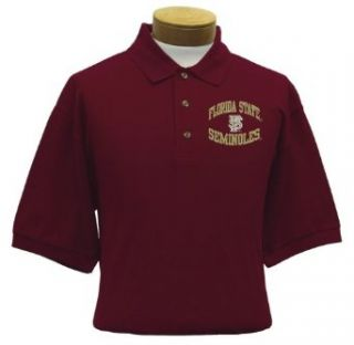 Florida State Men's Embroidered Pique Polo Shirt (Medium)  Sports Fan Polo Shirts  Clothing