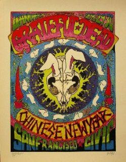 Grateful Dead Chinese New Year Signed Rock Concert Poster Print