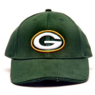 NFL Green Bay Packers Dual LED Headlight Adjustable Hat  Sports Fan Novelty Headwear  Clothing