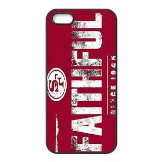 NFL Football Team Logo San Francisco 49ers FAUTHFUL SINCE 1946 Cool Unique Durable TPU Rubber Case Cover for Apple Iphone 5 Custom Design Fashion DIY Cell Phones & Accessories