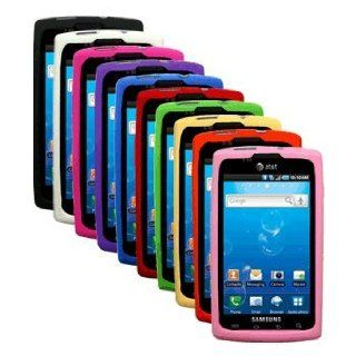 Ten Silicone Cases / Skins / Covers for Samsung Captivate SGH I897   Black, White, Hot Pink, Purple, Blue, Red, Green, Yellow, Orange, Light Pink Cell Phones & Accessories
