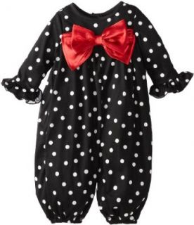 Rare Editions Baby Baby girls Infant Dot With Red Bow Party Pant, Black/White/Red, 12 Months Clothing