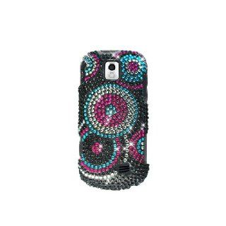 Samsung Intercept M910 SPH M910 Bling Gem Jeweled Jewel Crystal Diamond Black Pink Blue Circles Cover Case Cell Phones & Accessories