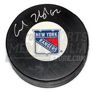 Carl Hagelin New York Rangers Signed Autographed New York Rangers Logo Puck at 's Sports Collectibles Store