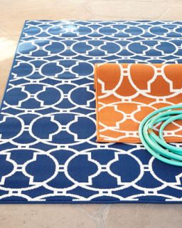 Baja Circles Indoor/Outdoor Rug, 23 x 46