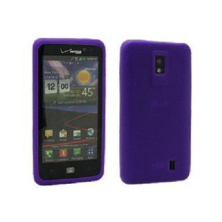 Purple Soft Silicone Gel Skin Cover Case for LG Spectrum VS920 Cell Phones & Accessories
