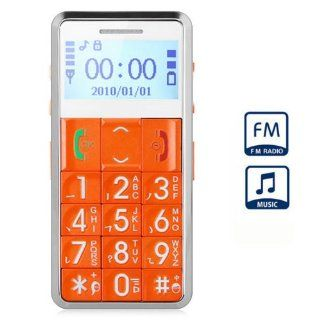 6 inch GSM Dual Band FM Torch SOS Key Bar Phone Cell Phone Orange Eu Plug Computers & Accessories