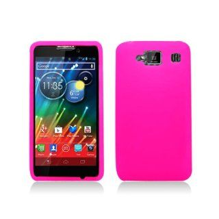 Hot Pink Soft Silicone Gel Skin Cover Case for Motorola Droid RAZR MAXX HD XT926 Cell Phones & Accessories
