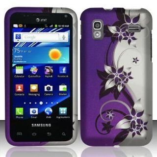 For AT&T Samsung i927 Captivate Glide Accessory   Purple Vine Hard Case Proctor Cover Cell Phones & Accessories