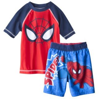 Spider Man Toddler Boys Short Sleeve Rashguard