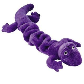 Zanies Plush Bungee Geckos Dog Toy, 16 Inch, Purple  Pet Chew Toys