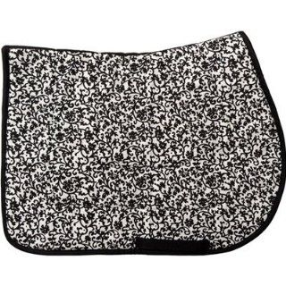 Seville Black & White Saddle Pad   USA MADE  Horse Saddle Pads  Sports & Outdoors