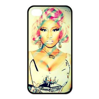 Nicki Minaj Custom Protective Iphone 4,4s (TPU) Case Covers,Own It to Show Your Fans,Perfect Gift Idea Cell Phones & Accessories