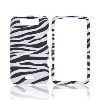 White Black Zebra LG Viper 4G LTE Connect 4G Rubberized Matte Hard Plastic Case Cover [Anti Slip]; Perfect Fit as Best Coolest Design Cases for Viper 4G LTE Connect 4G/LG Connect 4G Compatible with Verizon, AT&T, Sprint,T Mobile and Unlocked Phones Ce