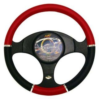STEERING WHEEL COVER RED/CHROME/BLACK Automotive