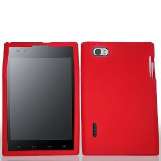 Red Soft Silicone Gel Skin Cover Case for LG Intuition VS950 Optimus Vu P895 Cell Phones & Accessories