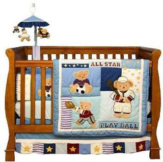 Play Ball Sports 6 Piece Baby Crib Bedding Set  Baby