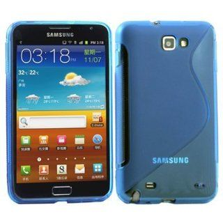 Blue S Line Soft TPU Gel Case Cover For Samsung Galaxy Note / i9220 GT N7000 Cell Phones & Accessories