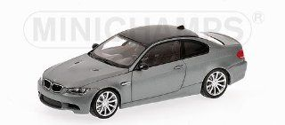 BMW M3 (E92) 2008 MATT GREY Diecast Model Car in 143 Scale by Minichamps Toys & Games