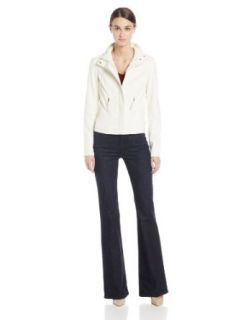 KUT from the Kloth Women's Big Elana Faux Leather Jacket In White