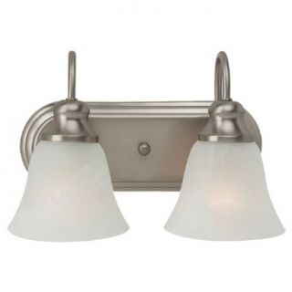 Sea Gull Lighting 44940BLE 962 Bath Vanity with Alabaster�Glass Shades, Brushed Nickel Finish   Vanity Lighting Fixtures