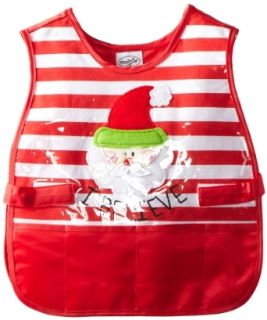Mud Pie Unisex Baby Infant Santa Craft Smock, Multi Colored, One Size Clothing