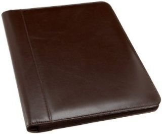 Leatherbay Classic Leather Padfolio,Dark Brown,one size Shoes