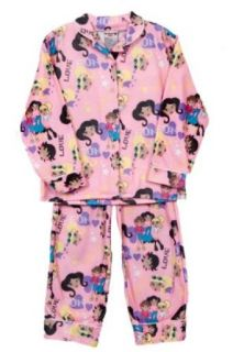Angel Face Little Girls 2 Piece Pink Flannel Pajama Shirt Pants Pjs Set Clothing