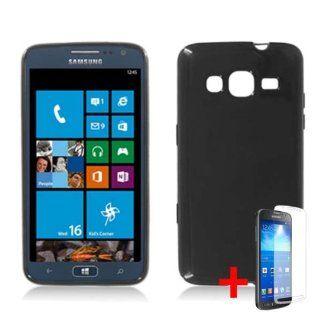 SAMSUNG ATIV S NEO SOLID BLACK TPU RUBBER SKIN COVER SNAP ON HARD CASE +FREE SCREEN PROTECTOR from [ACCESSORY ARENA] Cell Phones & Accessories