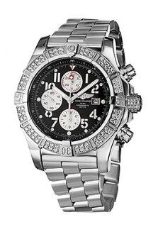 Breitling A1337053 B973 135A Aeromarine Black Dial Stainless Steel Men's Automatic Chronograph, Chronometer Watch Watches