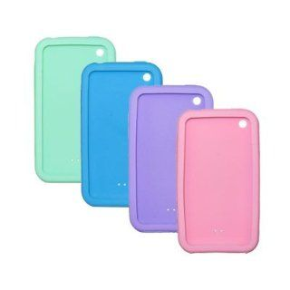 4 Pack of Soft Silicone Gel Skin Cover Cases for Apple iPhone 3G 8GB 16GB / 3G S 16GB 32GB (Pink / Lavender / Light Blue / Mint) Cell Phones & Accessories