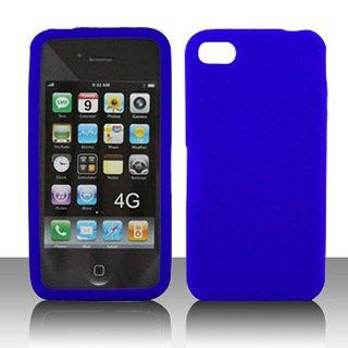Frosted Clear Blue Soft Silicone Gel Skin Cover Case for Apple iPhone 4 4S Cell Phones & Accessories