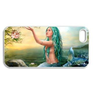 ePcase Pleasant Singing Voice For Mermaid Printed Black Hard Case Cover for iPhone 5 Cell Phones & Accessories
