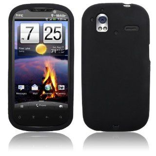 HTC Amaze 4G   Black Soft Silicone Skin Case Cover [AccessoryOne Brand] Cell Phones & Accessories