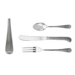 Update International CH 954H Chelsea Series Chrome Plated Dinner Fork with 4 Tines, 7 3/4 Inch, Satin (Case of 12) Kitchen & Dining