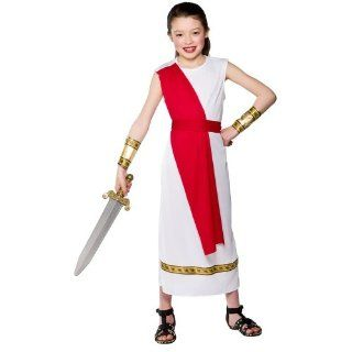 Girls Ancient Roman Girl Costume Fancy Dress Up Party Halloween Kid Child Small Toys & Games