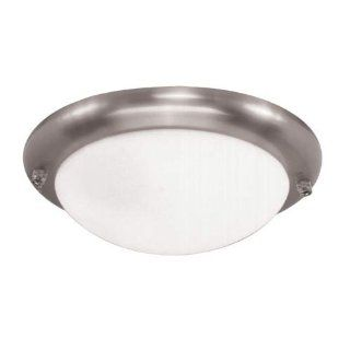 Sea Gull Lighting 1648 962 One Light Ceiling Fan Light Kit, Brushed Nickel with White Glass