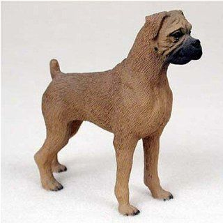 Boxer, Tawny, Uncropped Original Dog Figurine (4in 5in)