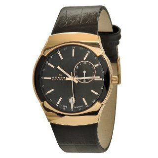 Skagen Men's 983XLRLDB Black Label Rose Gold Plated Stainless Steel Case Watch at  Men's Watch store.