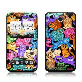 Colorful Kittens Design Protective Skin Decal Sticker for HTC One X Cell Phone Cell Phones & Accessories