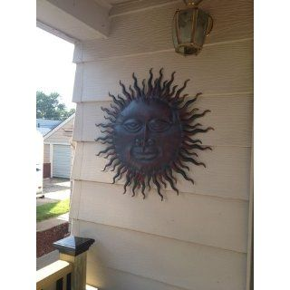 "Sweet Smiling Sun Metal Wall Hanging Art 24 ""   Wall Sculptures"