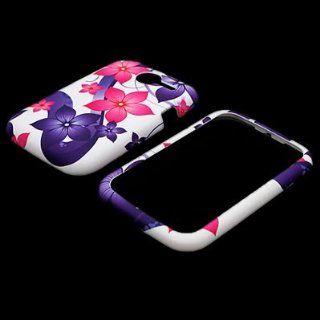 CoverON� WHITE Hard Snap On Cover Case with PURPLE PINK BLUE HIBISCUS FLOWER Design for PANTECH P6030 RENUE ATT With PRY  Triangle Case Removal Tool [WCA619] Cell Phones & Accessories