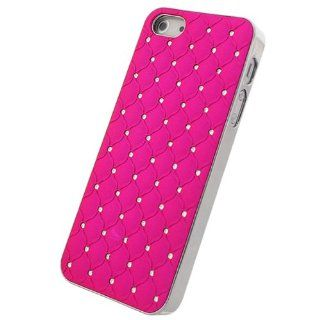 Bfun Hot Pink Bling Diamond Style Chrome Plated Hard Cover Case For Apple iPhone 5 5G AT&T Verizon Sprint Cell Phones & Accessories