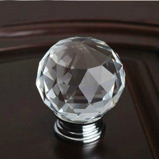 Shop 10pcs 30mm Diamond Shape Crystal Glass Cabinet Knob Cupboard Drawer Pull Handle/great for Cupboard, Kitchen and Bathroom Cabinets, Shutters at the  Home D�cor Store