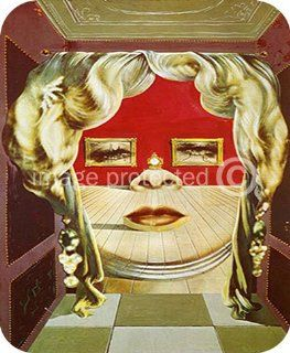 Artist Salvador Dali Fine Art MOUSE PAD Mae West's Face Which Can Be Used as a Surrealistic Apartment   Office Desk Pads And Blotters