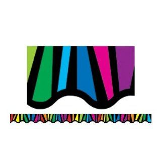 Creative Teaching Press Rainbow Stripes Border (2666)  Themed Classroom Displays And Decoration