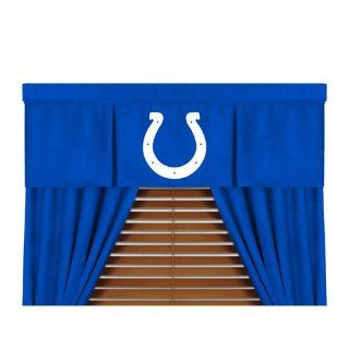 "Indianapolis Colts NFL ""MVP"" Collection Valance (50""x15"")  Sports Fan Window Treatment Valances  Sports & Outdoors"